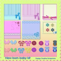 Preview New Born Babykit by Creativescrapmom