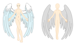 Base Edit - Angel Woman by Shadow-Bases