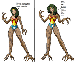 Wonder Woman Tree monster tf 4 by Alonbok77