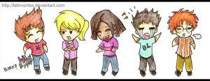 JN: Chibi Gang Retro Styled by latinvortex