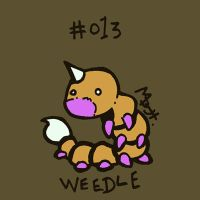 013 Weedle by toadcroaker