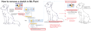 How To Remove a Sketch in MsPaint by Kainaa