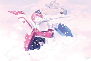 TF_G1_starscream_The snow by H-E-E-R-O-Y-U-Y