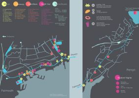 Falmouth Fresher's map by Tintreas