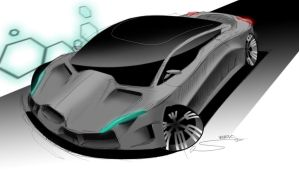 My concept of a supercar by Straxer