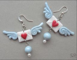 "Earrings ""Love letter"" by AnielClayWorks"