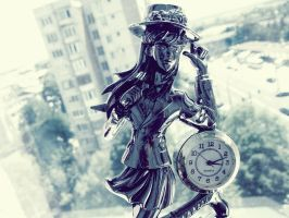 Girl clock by AMP-20