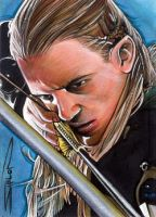 Legolas Sketch Card by RandySiplon