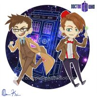 Doctor Who Chibis by DragonSpirit469