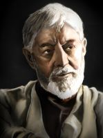Obi Wan Digital Painting by Unttin7