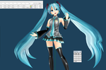 Project diva Kei Style miku Commission WIP3 by chatterHEAD