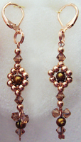 Rose Gold With Amber Swarovski by PeacefulSeraph