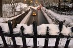 Central Park Snowy Taxi by FloresFabrications