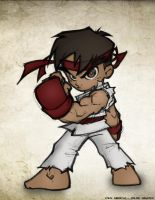 Chibi_Ryu_Colored by drucpec