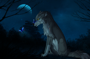 Blue Moon - Commission by Nereiix