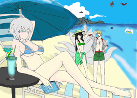 Summer vication scetch coloured by Urajimir