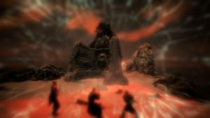 Skyrim: Confronting Alduin by FlygonPirate