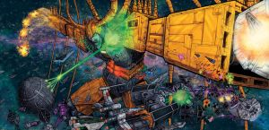 Unicron versus Star Wars Colored by artrobot9000