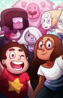 Steven Universe - The Family by RinTheYordle