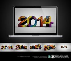 Year 2014 Wallpapers (5 Perspective) by zestladesign