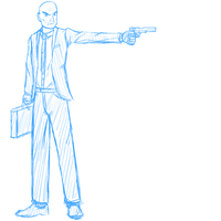 Agent 47 by R64-art
