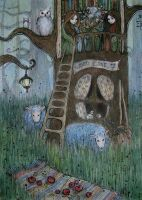 house in the tree II by AnnWeaver