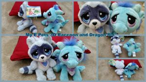 My e pets Raccoon and Dragon by Vesperwolfy87