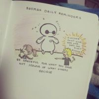 Baymax Daily Reminders: No Jelly plz by peore