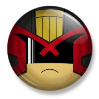 Judge Dredd Pin Back Button by Mutant-Cactus