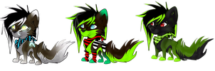 3 Chibi/Emo Wolf - CLOSED adoptions by xPixe