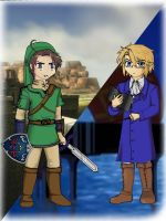 Cosplaying Link and Austria by ImDestiny