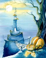 Halloween Tower by Alina-Kurbiel