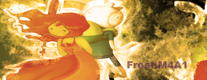 Flame Princess and Finn Signature by FubblegumCF
