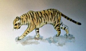 Water Colour Tiger by SarahStar123