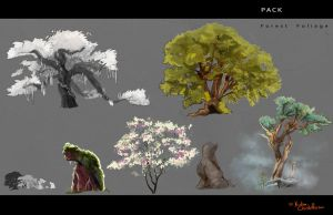 PACK: Forest Foliage by Ekatii