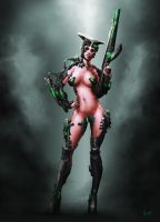 Cyber Chick(old) by PeterCsanyi