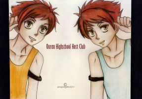 Hitachin Twins II - Ouran Highschool Host Club by amazinglife2011