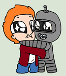 Little Fry and Bender - Futurama by AmazingAceArmy