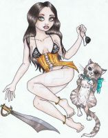 Pinup 1 - Pirate Wench and Cat by SexyRoadkill