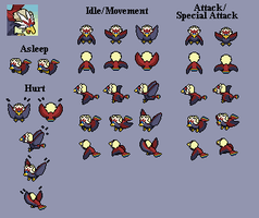 Braviary - PMD custom sprites by PowerCristal