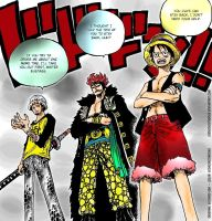 Luffy, Eustass, Trafalgar Law - One Piece by godassassin0068