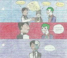 Two Face vs. Joker by NOTEBLUE13