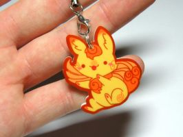 kawaii Shisa dog charm by michellescribbles