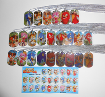 Complete Sonic Boom Dog Tags (24 out 24) by ManicKatie2