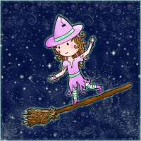 Lil' Witchy - coloured by Marjolijn-Ashara