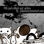 PNG pack 'black and white' by Juliaorlova