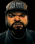 Ice Cube by dwaynebiddixart