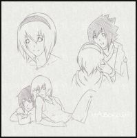 sasusaku sketch collection by maboroshii