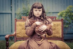 Victorian Girl and Chicken (2012) by kilkennycat