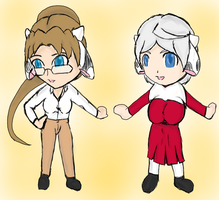 Moosday 10-02 Chibis by TenkiShonen